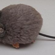 Sweet  Steiff Grey Woolen Mouse, Steiff Button, 1958 to 1964