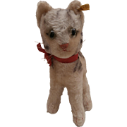 Adorable Steiff Lizzy Pussy Cat, Steiff Button, 1968 to 1970
