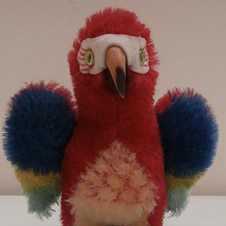 Steiff Lora Parrot, Smaller Size, No Id's 1968 to1976