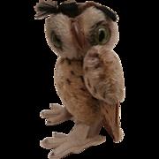 Larger Steiff Wittie Owl, Steiff Button, 1955 to 1964