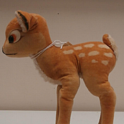 Larger Steiff Bambi Deer, Walt Disney, 1959 to 1964, No Id's