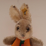 Rare Steiff Rabbit Nightcap, 1968 to 1973, Steiff Button
