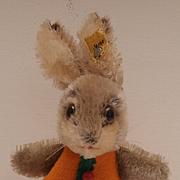 Rare Steiff Rabbit Nightcap, 1968 to 1973, Steiff Button