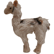 Wonderful Steiff Lama,  Llama, Steiff Label and Steiff Button, 1965 to 1969 , Working Squeaker