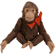 Dear Old Jocko Monkey by Steiff, Steiff Button, 1958 to 1964