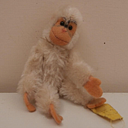 Steiff Miniature White Jocko monkey, 1959 to 1961, Steiff Button