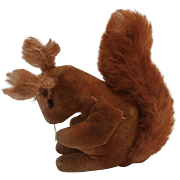 Rare Steiff Little Red Velvet Squirrel, 1950 to 1956, No Id's