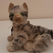 Steiff Kitty Cat, Fully Jointed 1951 to 1958, Steiff Button