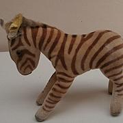 Steiff Zebra,  Smallest  Size, 1959 to 1964, Steiff Button