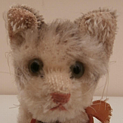 Gorgeous Steiff Tabby Pussy Cat, Steiff Chest Tag, 1959 to 1964