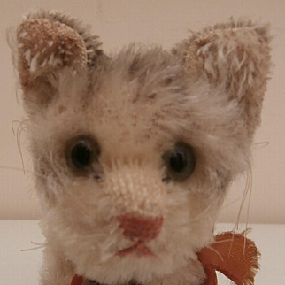 Gorgeous Steiff Tabby Pussy Cat, Steiff Chest Tag, 1959 to 1964