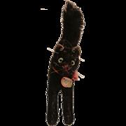 Steiff Black Tom Cat, 1958 to 1964, Steif Chest Tag, A/F
