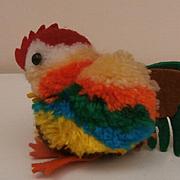 Vintage Colourful Woolen Rooster