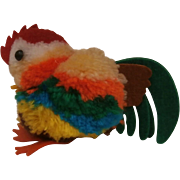 Vintage Colourful Woolen Rooster