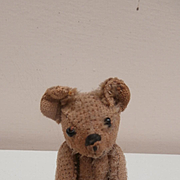 Alfie, Darling  Early Well Loved Miniature Steiff Teddy Bear, No Button
