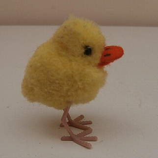 Tiny Steiff Woolen Duckling,  1965 to 1976, No Id's