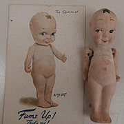 Early Fums Up ,  Kewpie Type Doll   English , Hancock. Plus Postacrd