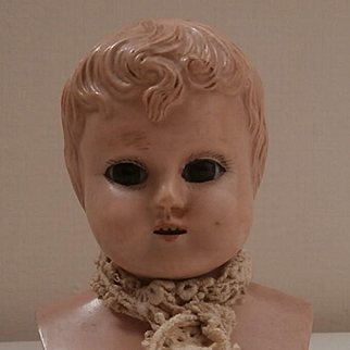 Early Celluloid Shoulder Head Doll, Glass Eyes. A/F