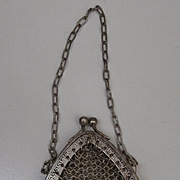Vintage Chain Mail Doll or Teddy  Bag, A/F