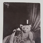 Early Postcard 1910, Teddy Marrying a Pussy Cat