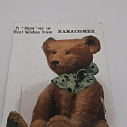 Early Postcard 1920, Teddy Bear, Opens To Show Baracombe, Torquay
