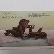 Early Teddy Bear Postcard Showing Teddies Skating.