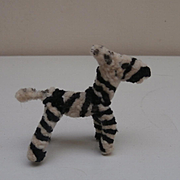 Tiny Vintage Pipe Cleaner Zebra for your Miniatures