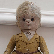 Very Rare Early  Harwin British Soldier  Cloth Doll