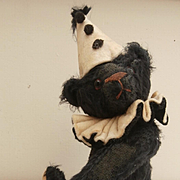 JoJo, Artist Black Clown Teddy Bear By Lexie Haworth