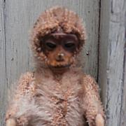 Poor Tiniest Schuco Piccolo Monkey. 1920/30 Originally Pink