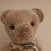 Poor Old Edith, Early Well Loved White / Cream Teddy Bear