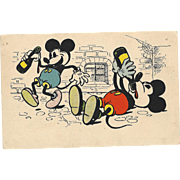Rare Early  Mickey Mouse, Walt Disney Advertising Postcard