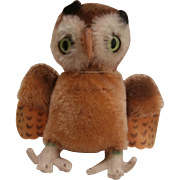 Steiff Wittie Owl, 1965 to 1970, No Id's