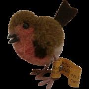 Smallest  Steiff Woolen Bird, Steiff Button, 1959 to 1964