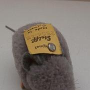 Steif Grey Woolen  Mouse, Steiff Button, 1959 to 1964