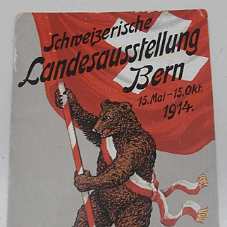 Postcard, Switzerland  Exhibition, 1914, Teddy Bear