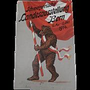 Postcard, Switzerland  Exhibition, 1914, Teddy Bear
