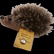 Steiff Joggi Hedgehog, 1968 to 1970's, Steiff Button
