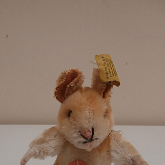 Steiff Goldy Hamster, Steiff Button, Steif Goldy Chest Tag 1965 to 1967