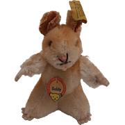 Steiff Goldy Hamster, Steiff Button, Steif Goldy Chest Tag 1965 to 1967