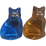 Vintage Glass Miniature Pussy Cats