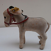 Steiff Smallest Size Donkey, 1959 to 1964,, Button and Chest Tag