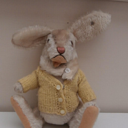Larger Steiff Niki Rabbit, Steiff Button 1959 to 1964