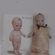 Fums Up Doll , The Optimists , China Kewpie Type Doll  Needle and Pin Holder, English , Hancock