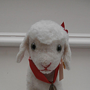 Wonderful Steiff Lamby Lamb, 1968 to 1970, Steiff Button