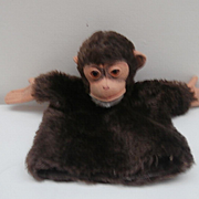 Steiff Jocko Hand Puppet, No Id's, 1964 to 1971