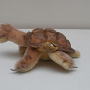 Steiff Smallest Size Slo, Turtle, Tortoise, Steiff Button and Steiff chest Tag
