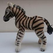 Steiff Zebra, No Button, 1968 to 1977