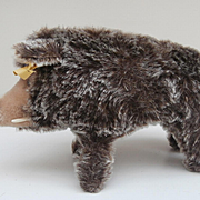 Steiff Dalle  Wild Boar, Pig, 1968 to 1976, Steiff Button