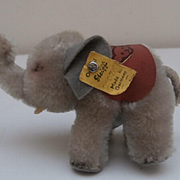Steiff Smallest Size Steiff Elephant, 1964 to 1969, Steif Button, Steiff Saddle